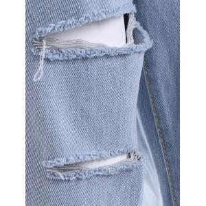 Ripped Raw Edge BF Jeans -