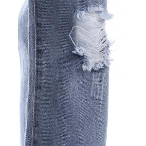 Ripped BF Ankle Jeans -