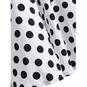 Polka Dot Halter Retro Fit and Flare Dress - WHITE 2XL