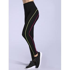 Contrast-Trim Slimming Leggings -