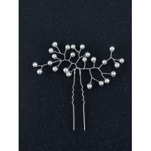 Faux Perle alliage Floral Hairpin -