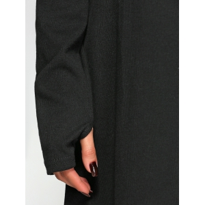 Long Sleeve Mittened A-Line Dress -