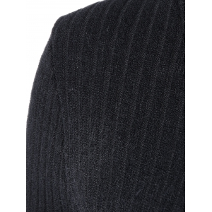 Turtleneck Fitted Ribbed Knit Dress -