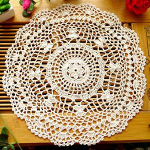 Handmade Floral Crochet Round Table Placemat -