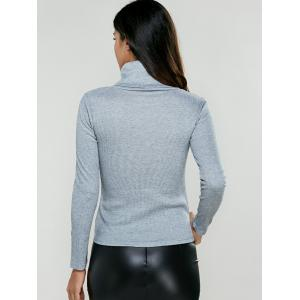 Turtleneck Ribbed Pullover Knitwear -