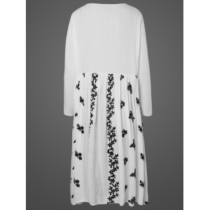 Embroidered Long Cover-Up Blouse -