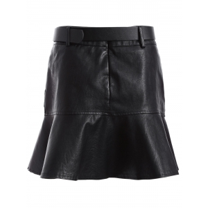PU Mermaid Mini Skirt -