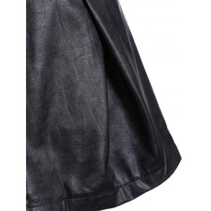 PU Ruched A-Line Skirt -