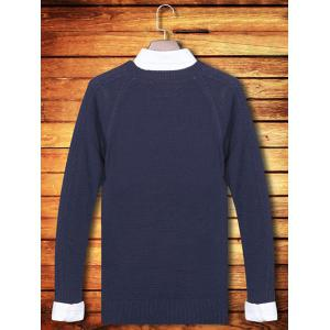 Knitting Crew Neck Long Sleeve Sweater -