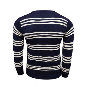 Long Sleeves Striped Pullover Knitwear -