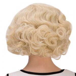 Sparkling Short Curly Cosplay Synthetic Wig - LIGHT GOLD