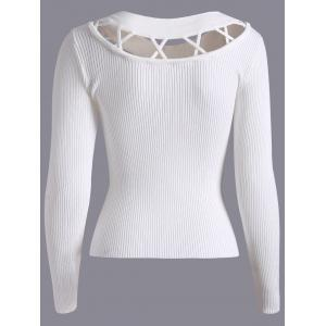 Hollow Out Fitting Knitwear -