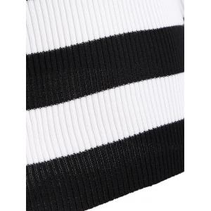 Hollow Out Striped Knitwear -