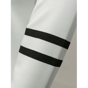 Varsity Striped New York Graphic Sweatshirts -