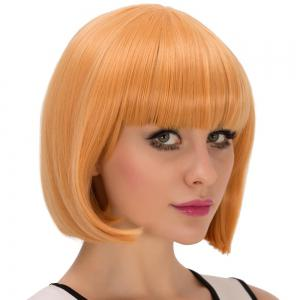 Fascinating Cosplay Synthetic Short Full Bang Bob Haircut Wig -