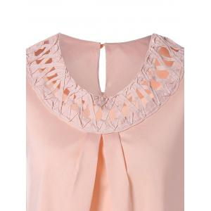 Cut Out Ruffled Ruched Tank Top -