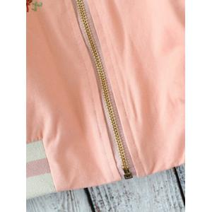Embroidered Front Baseball Jacket -