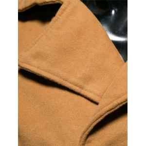 Turn-Down Collar Double-Breasted Wool Coat -