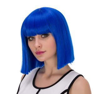 Prevailing Synthetic Cosplay Short Full Bang Bob Haircut Wig -