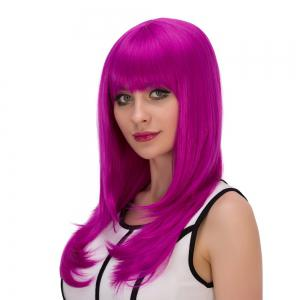 Long Full Bang Layered Tail Adduction Cosplay Synthetic Wig -