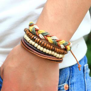 Layered Bead Braided Bracelets -