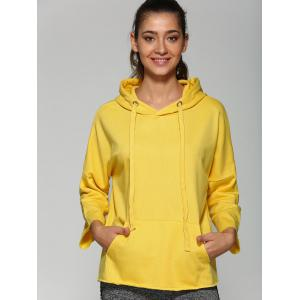Drop Shoulder Front Pocket Oversized Hoodie -