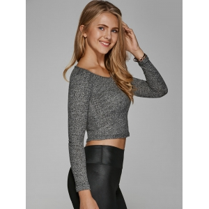 V Neck Cropped Knitwear -