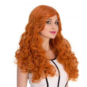 Long Inclined Bang Shaggy Wavy Cosplay Synthetic Wig -