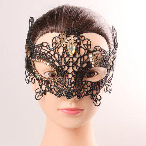 Discount Half Face Lace Hollow Out Butterfly Rhinestone Masquerade Masks