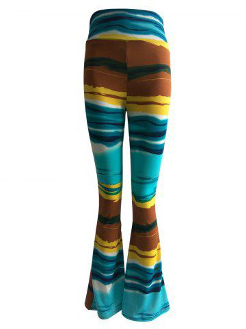 Buy High Waist Hit Color Trumpet Pants