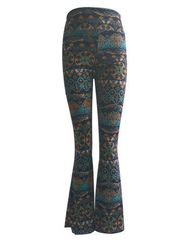 Latest High Waist Tribal Print Trumpet Pants