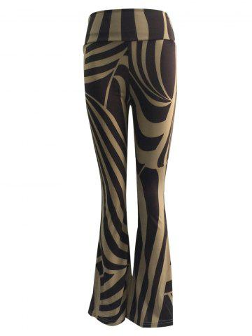 Discount High Waist Two-Toned Trumpet Pants