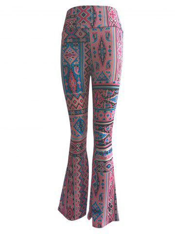Outfits High Waist Ethnic Print Trumpet Pants