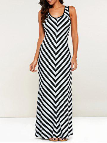 Shops Casual Striped Maxi Dress