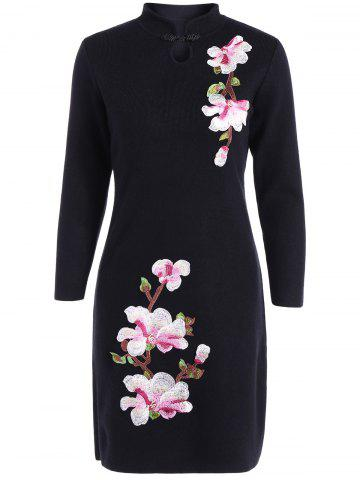 Online Embroidered Knitted Qipao Dress