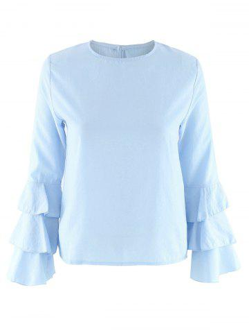 Shops Layered Sleeve Casual Blouse