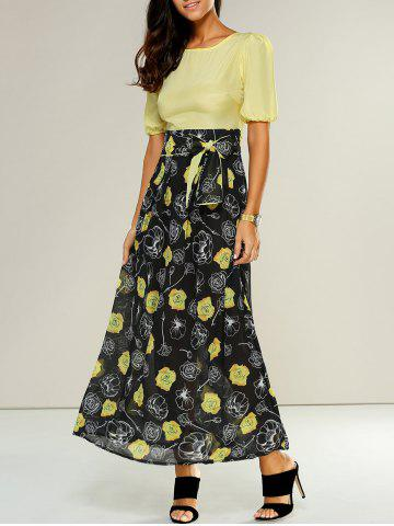 Sale High-Waisted Floral Casual Maxi Dress