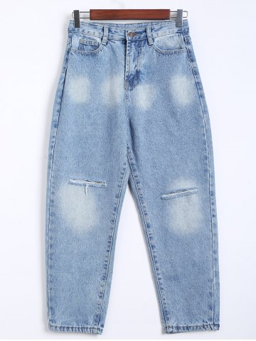 Chic Broken Hole Loose Harem Jeans