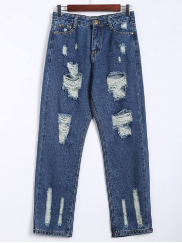 Latest Destroy Wash Frayed Harem Jeans