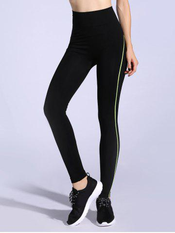 Trendy Contrast-Trim Slimming Leggings