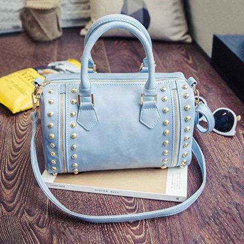 Buy Multi Zips Rivet PU Leather Tote
