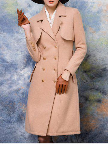 Shop Double-Breasted Belted Wool Blend Coat