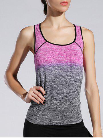 Fancy Space-Dyed Ombre Sporty Tank Top