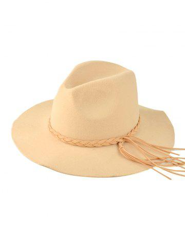 Trendy Braided Tassel Floppy Felt Hat