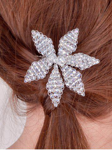 Outfit Filigree Faux Crystal Leaf Hair Comb SILVER