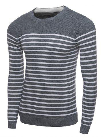 Sale Crew Neck Stripe Jumper Long Sleeve Sweater