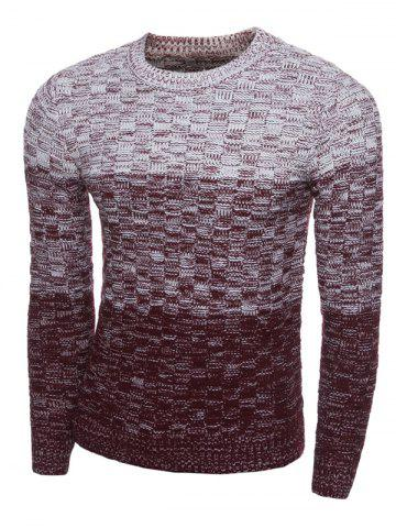 Outfit Crew Neck Ombre Long Sleeve Knit Blends Sweater