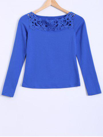 New Openwork Lace Slimming Blouse