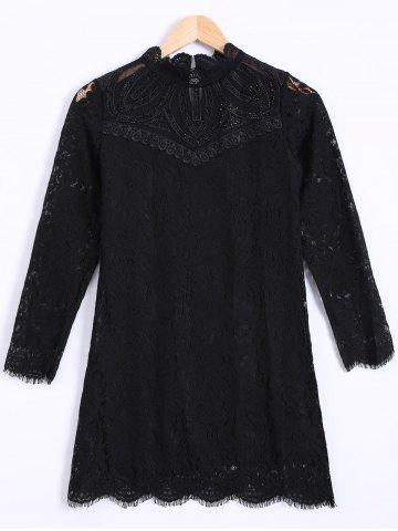 Cheap Lace Voile See Through Slimming Blouse