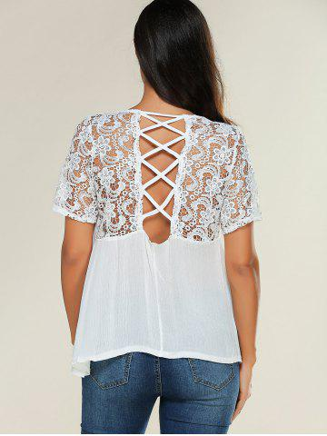 Fashion Openwork Crossback Blouse